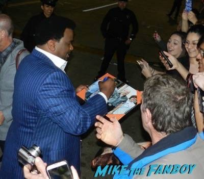craig robinson signing autographs Hot Tub Time Machine 2 premiere signing autographs adam scott 17