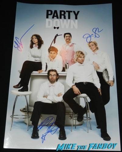 party down signed autograph poster