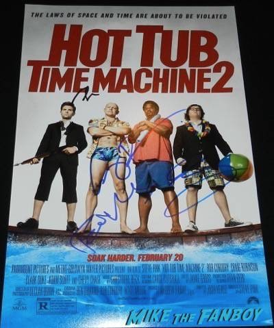 Hot Tub Time Machine 2 signed autograph poster