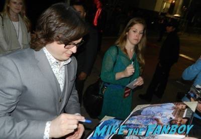 clark duke signing autographs Hot Tub Time Machine 2 premiere signing autographs adam scott 6