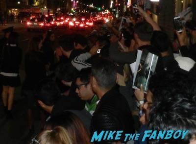 lana wachowski Jupiter Ascending movie premiere channing tatum mila kunis signing autographs 22
