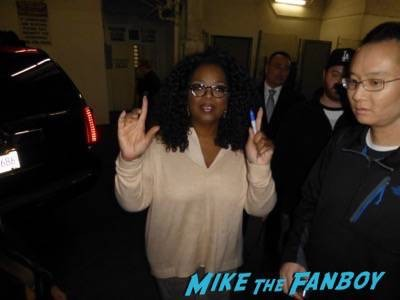 Oprah Winfrey Signing Autographs For Fans landmark theater 1