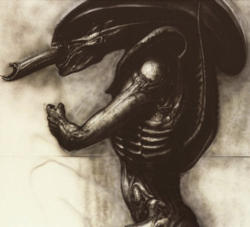 alien pre-production art work