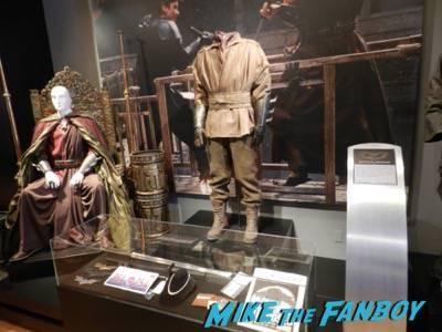 Warner Bros Batman prop and costume display musuem 1