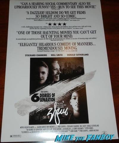 Will Smith signed autograph  Six degress of Separation mini poster