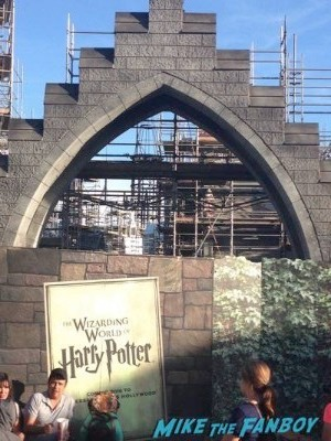 Wizarding World Of Harry Potter Construction photos Universal los angeles 3