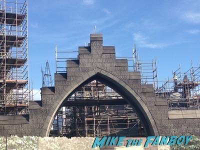 Wizarding World Of Harry Potter Construction photos Universal los angeles 4