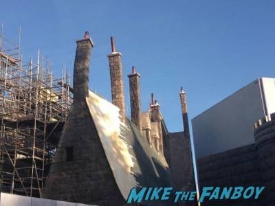 Wizarding World Of Harry Potter Construction photos Universal los angeles 7