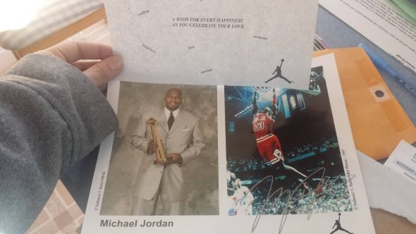 autograph michael jordan