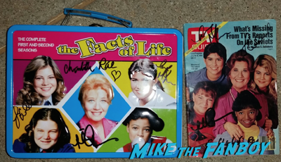 facts of life lunchbox signed autograph mindy cohn nancy mckeon