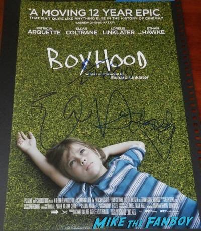 boyhood signed autograph movie poster
