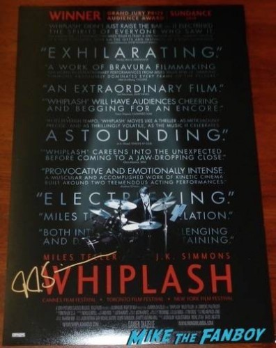 whiplash signed autograph movie poster