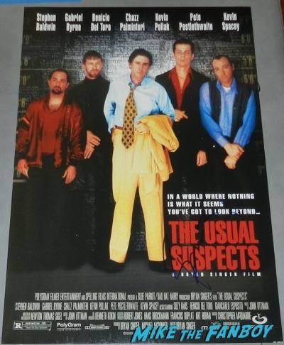usual suspects signed autograph movie poster