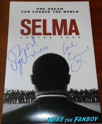 selma signed autograph movie poster