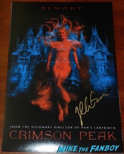 crimson peak signed autograph movie poster