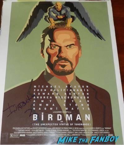 Birdman signed autograph movie poster