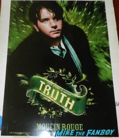 Moulin rouge ewan mcgregor character poster signed autograph movie poster