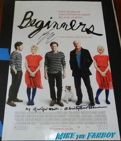 beginners ewan mcgregor character poster signed autograph movie poster