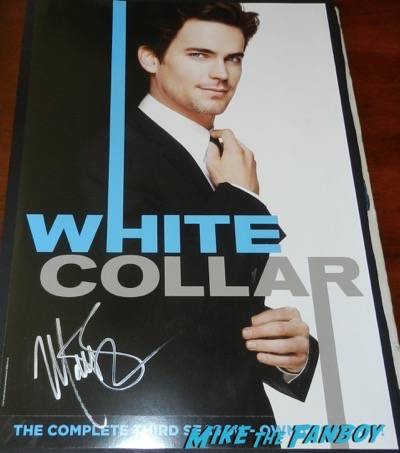 white collar poster signed autograph movie poster