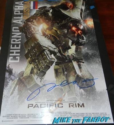 pacific rim poster signed autograph movie poster