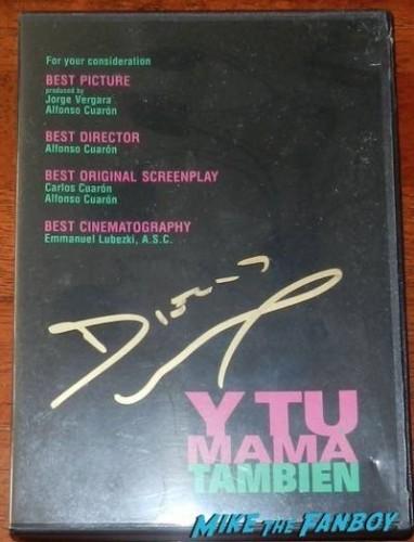 Diego luna signed y tu mama tambien dvd