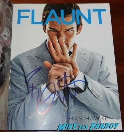 ethan hawke signed flaunt magazine cover