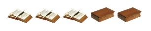 3 of 5 books