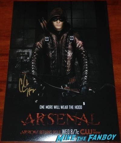 colten haynes signed arsenal poster