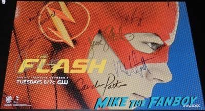 the flash cast signed mini poster