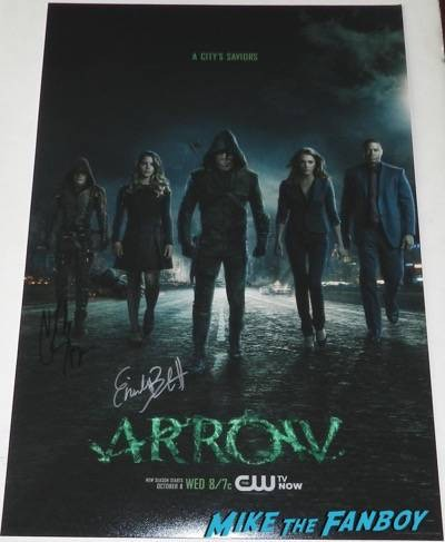Arrow signed mini poster