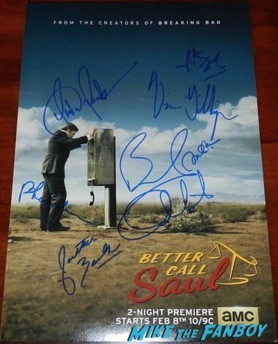 Better Call Saul signed autograph poster bob odenkirk