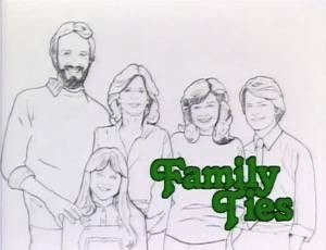Family-Ties-poster painting