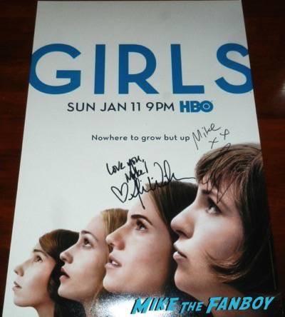 lena dunham signed autograph season four poster