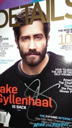 Jake Gylenhaal signed autograph details magazine 1