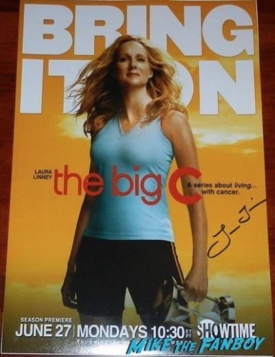 Laura Linney the big c signed autograph mini poster