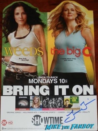 Laura Linney the big c signed autograph weeds counter standee