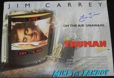 Laura Linney signed autograph the truman show uk quad mini poster