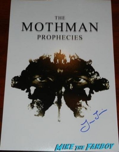 Laura Linney signed the mothman prophecies mini poster