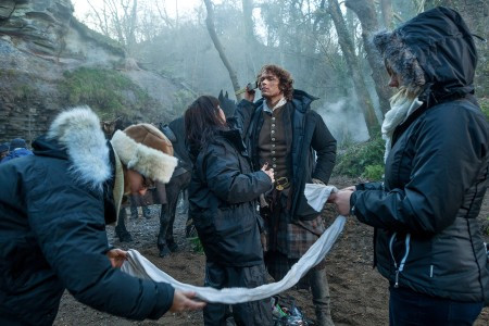 Outlander+Season+1B_BTS_Jamie+Fraser+(Sam+Heughan)