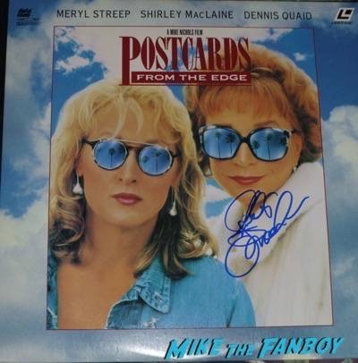 Shirley MacLaine signed autograph postcards from the edge poster laserdisc
