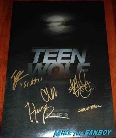 Teen Wolf cast signed poster tyler posey crystal reed