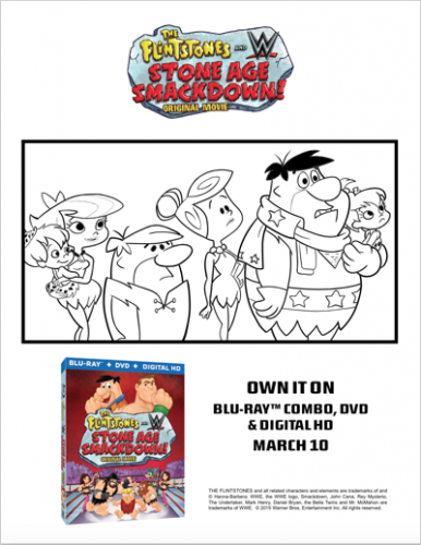 The Flintstones & WWE Stone Age Smackdown coloring sheet poster 4