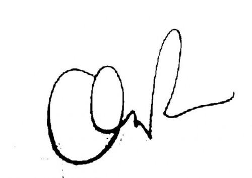 chandler riggs secretarial autograph