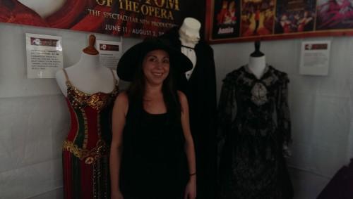"Myself and ""Phantom of the Opera"" cosutmes"