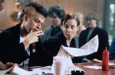 HIDING OUT, Jon Cryer, Keith Coogan, 1987, (c)De Laurentiis Entertainment Group