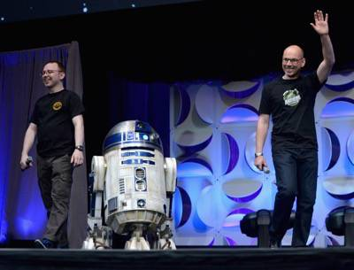 ANAHEIM, CA - APRIL 16:  Director J.J. Abrams speaks onstage during the Star Wars Celebration 2015 on April 16, 2015 in Anaheim, California.  (Photo by Alberto E. Rodriguez/Getty Images for Disney) *** Local Caption *** J.J. Abrams