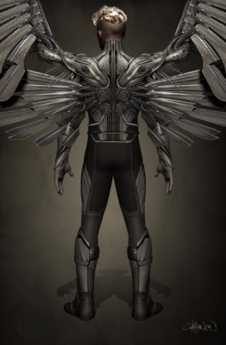 x-men apocalypse angel concept art ben hardy