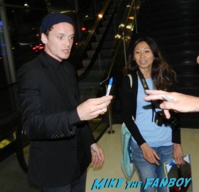 Anton Yelchin signing autographs 5 to 7 q and a rare 4