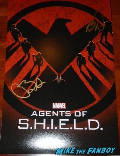 agents of SHIELD signed mini poster