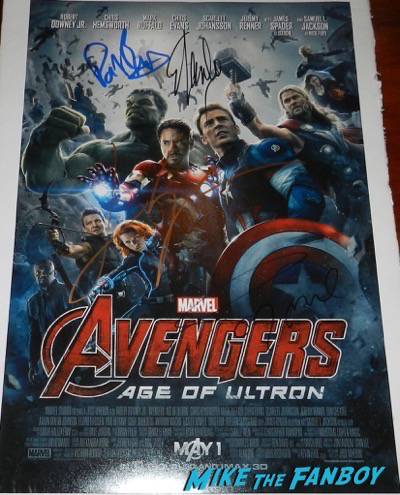 Avengers: Age of ultron signed cast poster